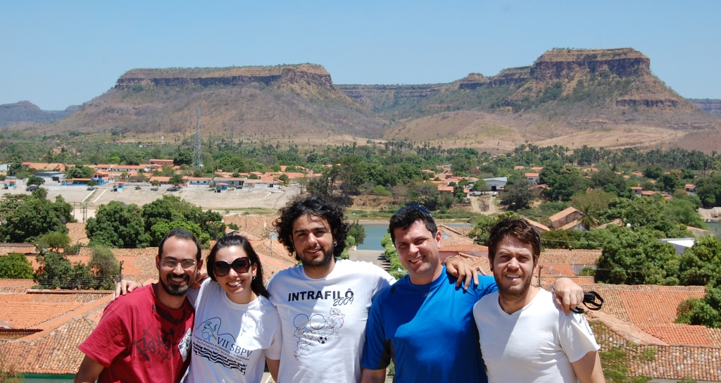 August/2010 field trip - Marco, Carol, Roque, Roberto, and Estevan in Amarante-PI