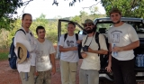 May/2013 field trip - Max, Giovani, Jeanninny, Marco, and Júlio at the Altamira creek