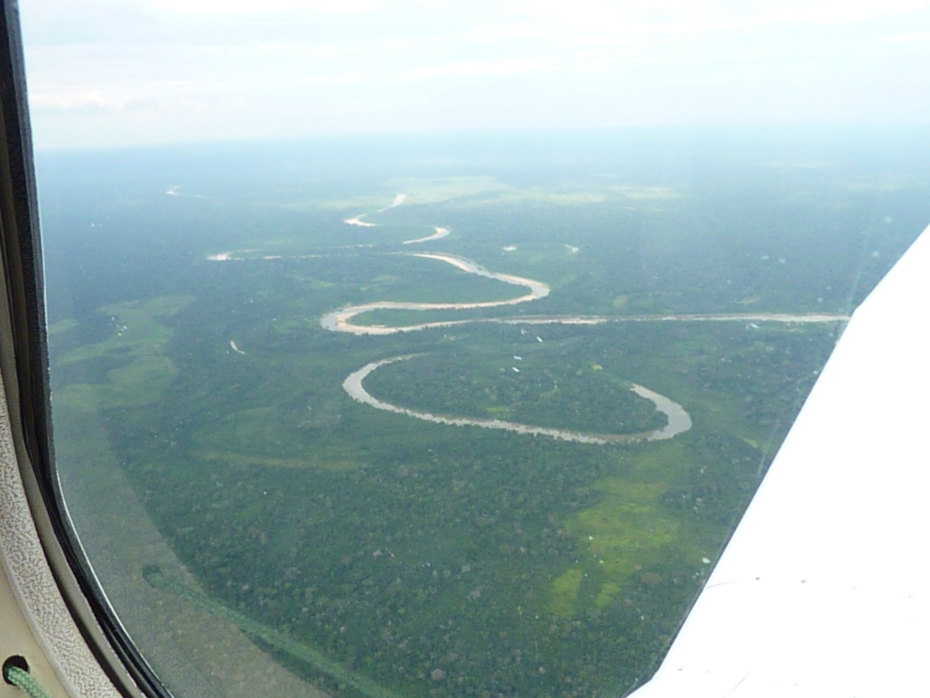 August/2014 field-trip - Juruá river from above, ox-bow lake