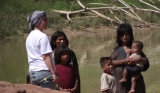 August/2014 field-trip - Ana and the indians, Juruá river